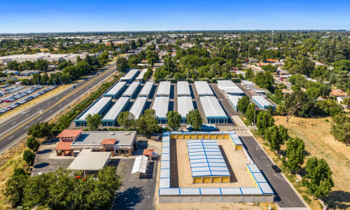 Aerial view of front Storage Star Yuba City in Yuba City, California