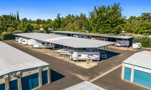 Covered Storage Parking at Yuba City, California