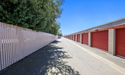 Exterior fenced in Storage Units Storage Star Rancho Cordova in Rancho Cordova, California