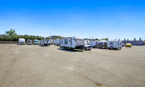 Rancho Cordova, California parking lot storage