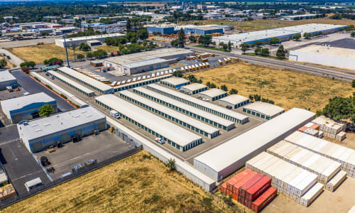 Aerial View of External Storage Units Storage Star Woodland in Woodland, California