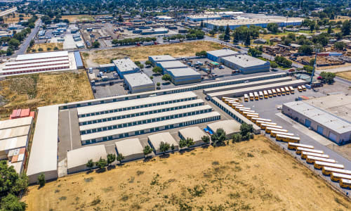 Storage Star Woodland Aerial View storage units in Woodland, California