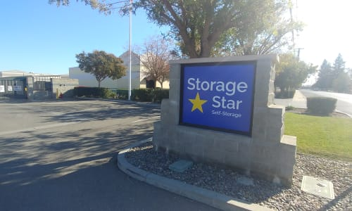 Storage Star sign at Storage Star Woodland in Woodland, California