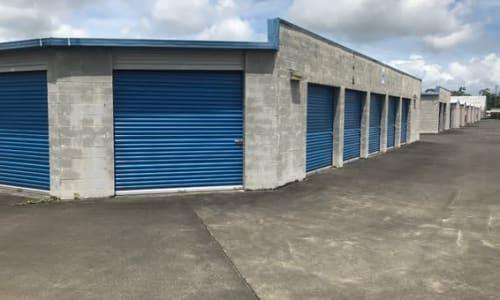 Large garage doors at Storage Star Hilo in Keaau, Hawaii