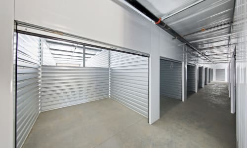 Well lit indoor storage units at Storage Star Napa in Napa, California