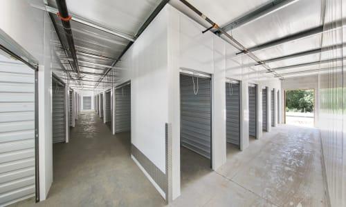 Wide indoor isles at Storage Star Napa in Napa, California