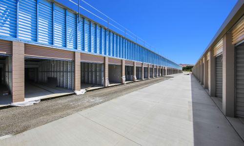 Wide driveways at Storage Star Napa in Napa, California