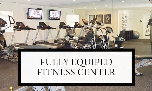 Fully equipped fitness center at Pleasanton Glen Apartment Homes in Pleasanton, California