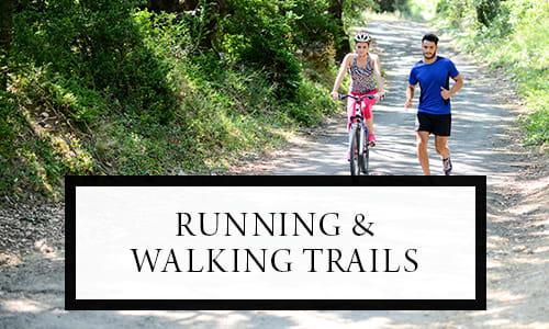 Running and walking trails at Pleasanton Glen Apartment Homes in Pleasanton, California