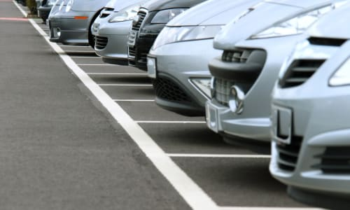 Cars parked at A-1 Self Storage in Alhambra, California