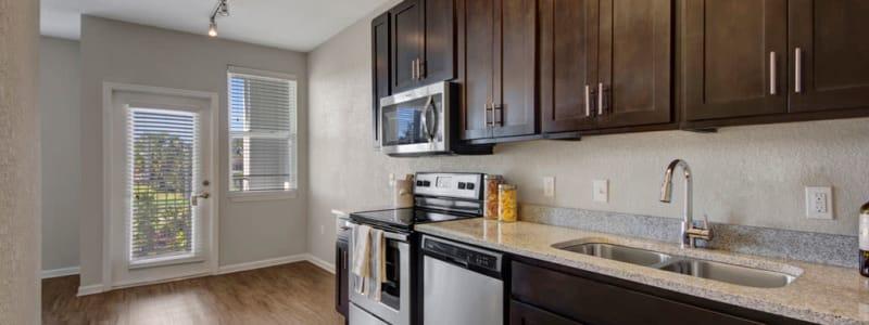 Beautiful kitchen at Linden on the GreeneWay in Orlando, Florida