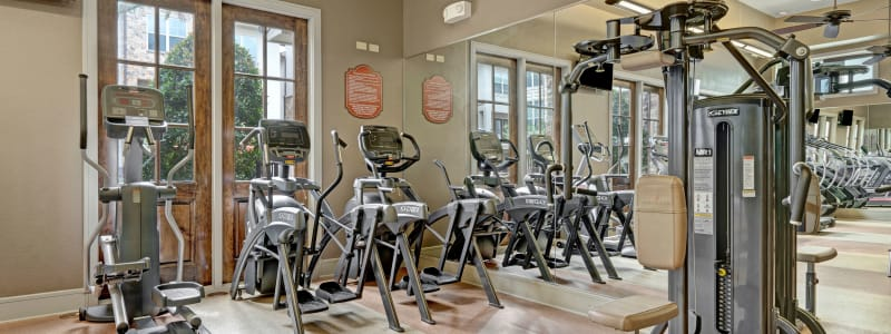 Exercise equipment at Arrabella in Houston, Texas