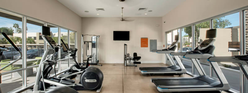 Fitness equipment at Avia McCormick Ranch Apartments in Scottsdale, Arizona