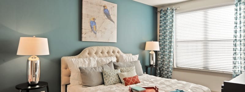 Bright The Mark at Brickyard Apartment Homes bedroom in Beltsville, Maryland