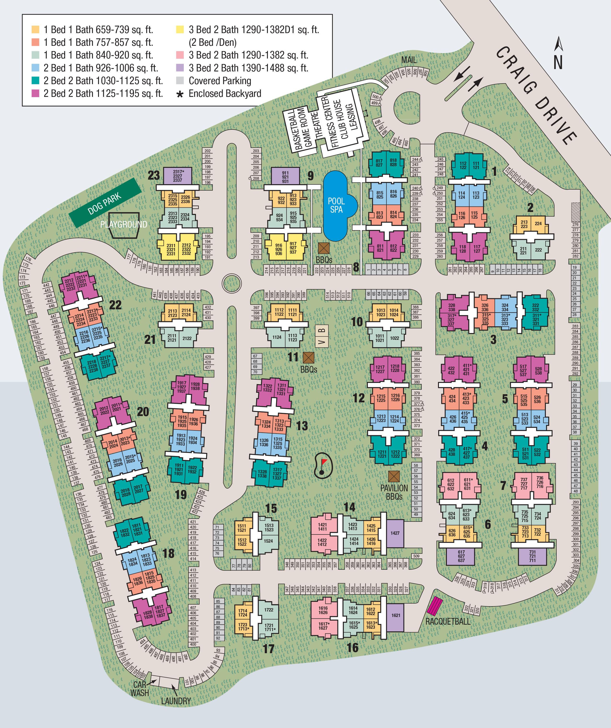 Site map of El Lago Apartments in McKinney, TX