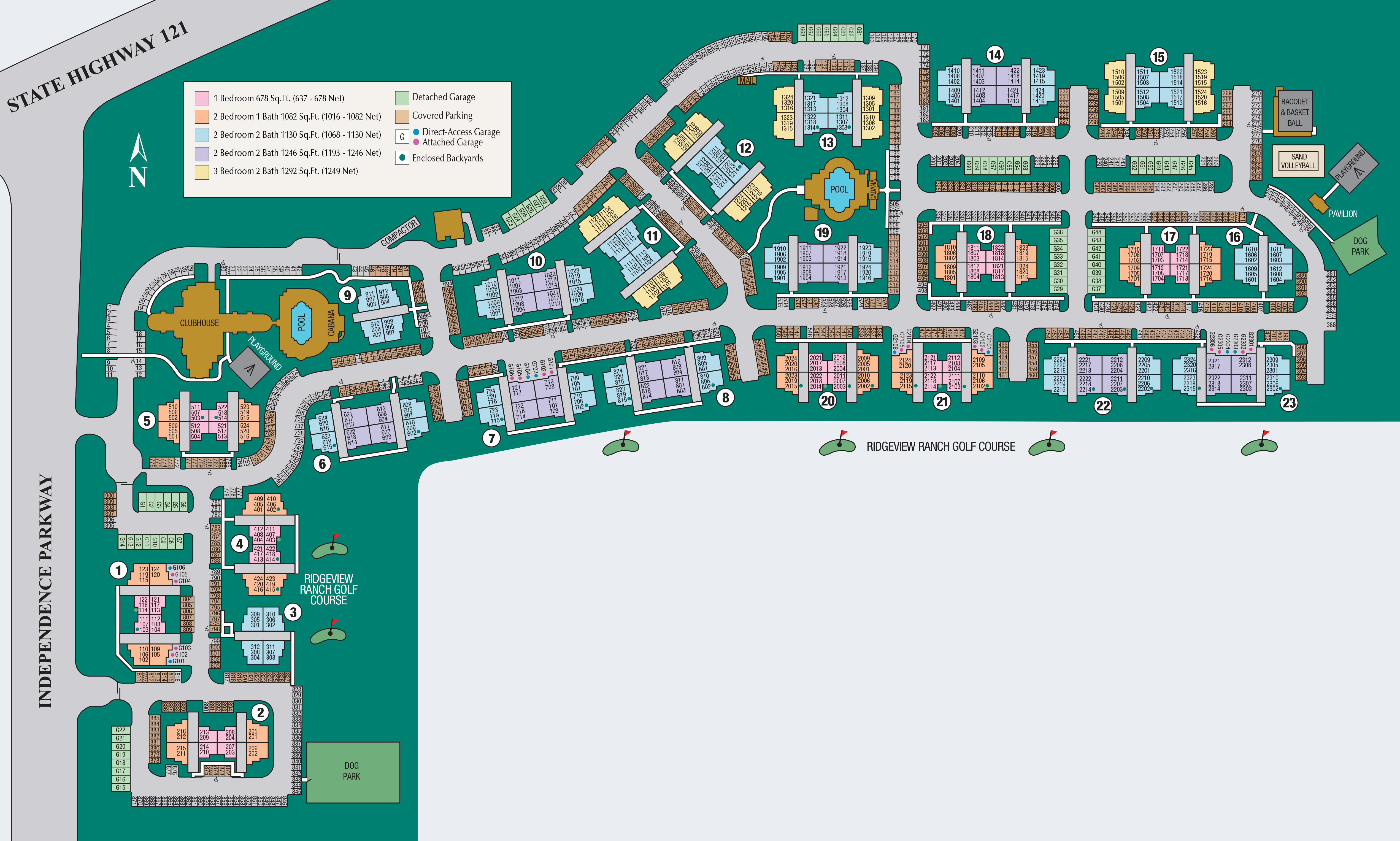 Site map of Estancia at Ridgeview Ranch in Plano, TX