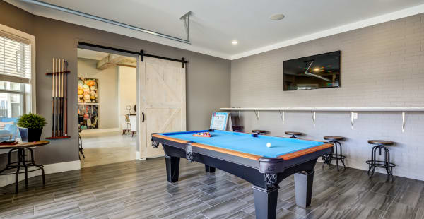 Pool table at Ansley Commons Apartment Homes in Ladson, South Carolina