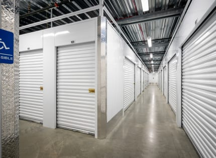 StorQuest Self Storage well lit hallway in West Babylon, New York