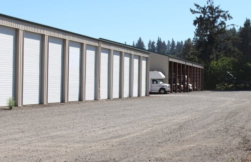 Spacious storage units at South Salem RV & Storage