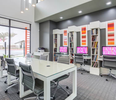 Resident business center at Trend! | Apartments in Las Vegas, NV