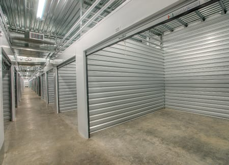 Interior hallway and storage unit at StorQuest Express - Self Service Storage in Deltona