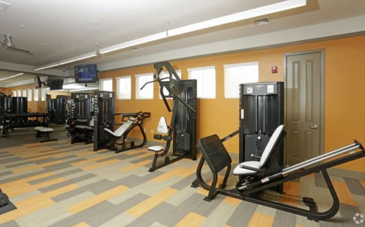 Fitness center at Arbours at Crown Point