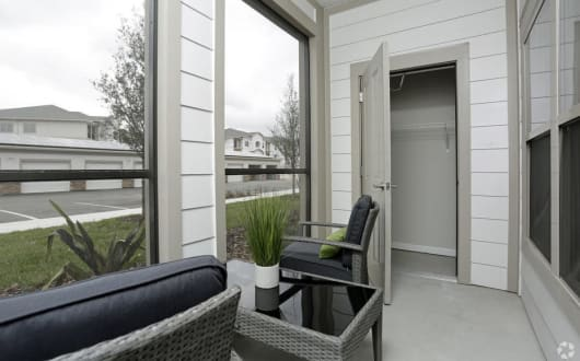 Exterior Patio at Arbours at Crown Point