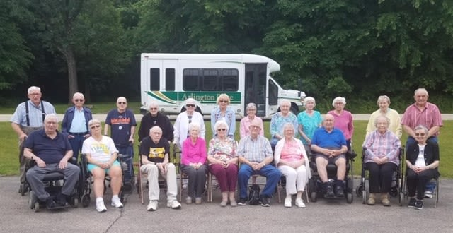 Assisted Living group photo at Arlington Place Oelwein in Oelwein, Iowa.