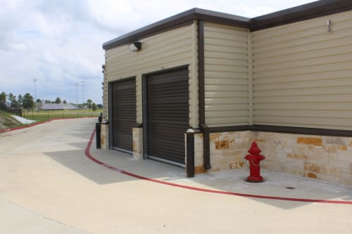 A few storage units at Town Creek Storage in Montgomery, Texas
