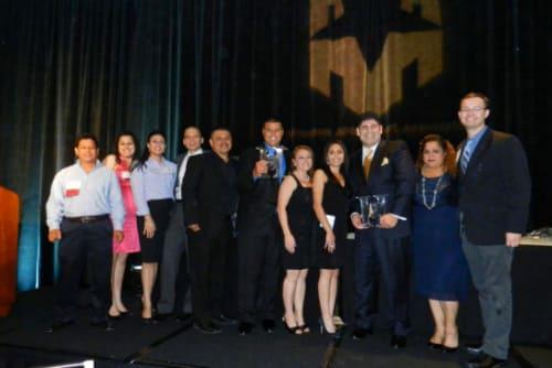 Green Meadows Apartments team at awards banquet