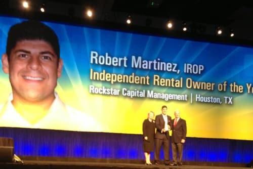 Robert Martinez of Green Meadows Apartments wins award