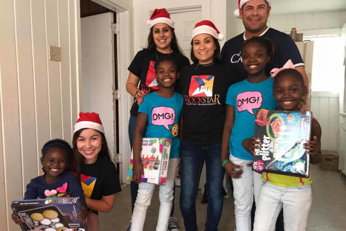 Rockstar Capital staff helping local families