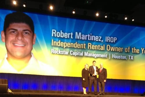 Robert Martinez of Bender Hollow Apartments wins award