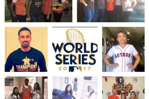 Westport Apartments celebrates the Astros World Series in Angleton, Texas
