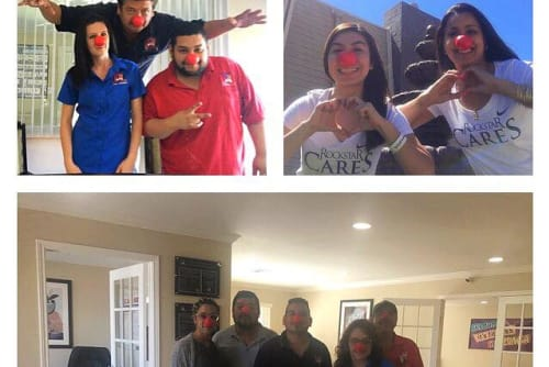 Westport Apartments participates in red nose day in Angleton, Texas