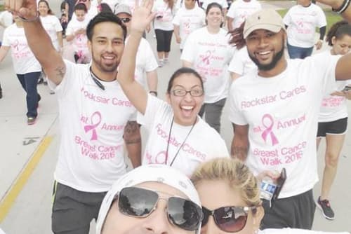 Westport Apartments walk for the cure in Angleton, Texas