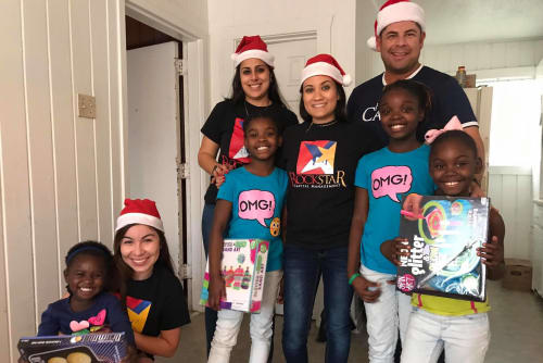 Parkside Apartments staff helping local families