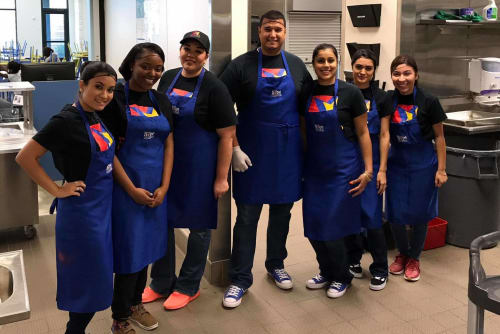 Parkside Apartments staff in the kitchen volunteering