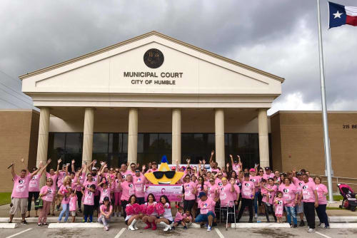 Parkside Apartments and staff at the end of the breast cancer walk