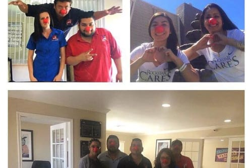 Parkside Apartments participates in red nose day