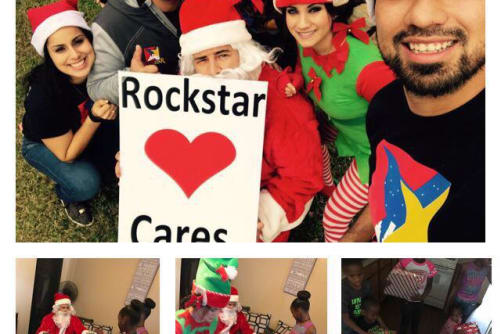 Parkside Apartments charity Christmas drive