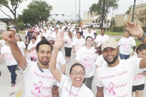 Parkside Apartments walk for the cure