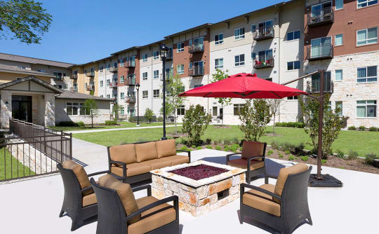 Affinity at Southpark Meadows fire-pit seating