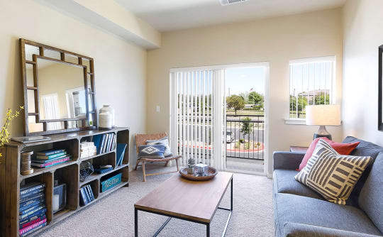 Affinity at Southpark Meadows living room with natural light