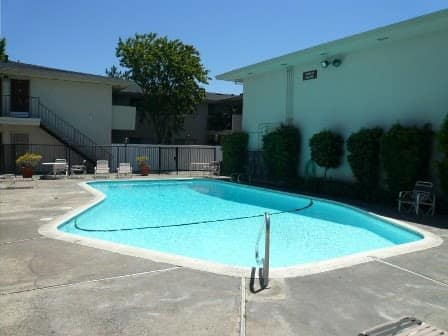 A view of the swimming pool in Sacramento, CA
