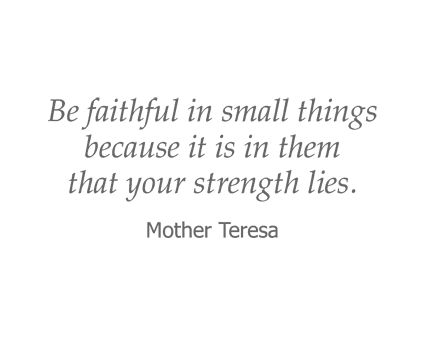 Mother Teresa Quote for Garden Place Senior Living
