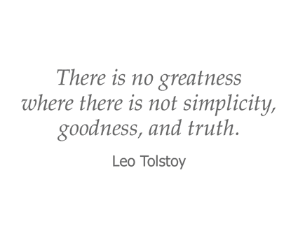 Leo Tolstoy quote for Garden Place Senior Living