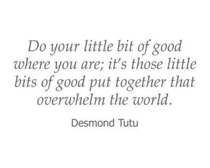 Desmond Tutu quote for Garden Place Senior Living