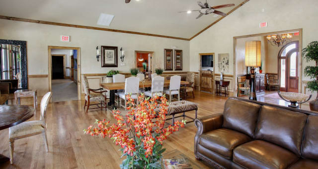 Large bright clubhouse at The Grove at Stone Park in Pike Road, Alabama