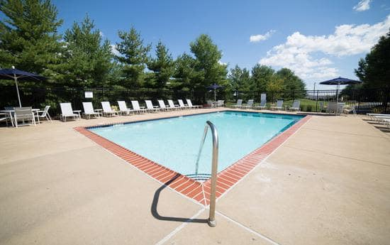 swimming pool that is great for entertaining at apartments in Fredericksburg, VA